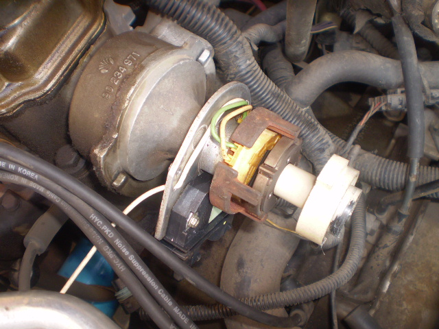 location of the daewoo ignition module in the distributor